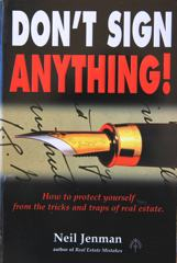 A photo of the cover of Don't Sign Anything
