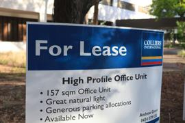 A photo of a real estate's for lease sign