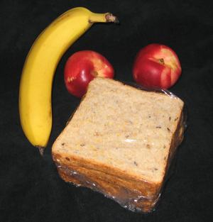 A photo of a packed lunch