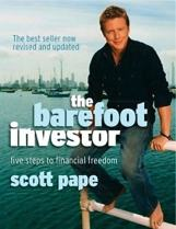 The front cover of the book, The Barefoot Investor