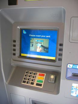 A photo of an automatic teller machine