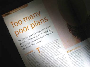 A photo of an article in a magazine, it's heading reads - too many poor plans