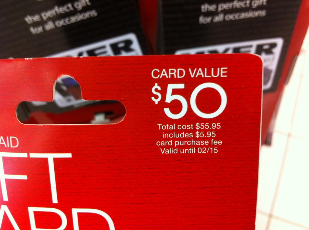 Target Visa debit card